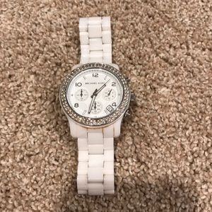 White and diamond Michael Kors Watch